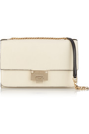 Rebel textured-leather shoulder bag