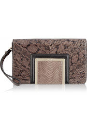 Jimmy Choo Alara glossed-elaphe clutch
