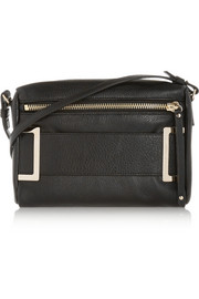 Phoebe textured-leather shoulder bag