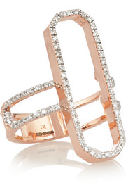 Diva Cocktail rose gold-plated diamond ring