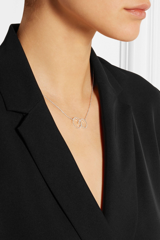 Monica Vinader Naida Kiss sterling silver diamond necklace