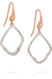 Riva rose gold-plated diamond earrings