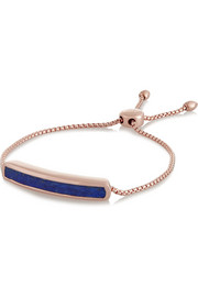 Baja rose gold-plated lapis bracelet