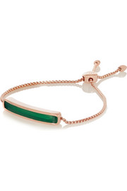 Monica Vinader Baja rose gold-plated green onyx bracelet