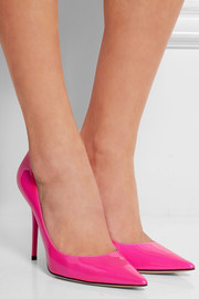 Jimmy Choo Abel neon patent-leather pumps