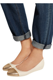 Waine  embellished leather wedge ballet flats