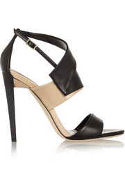 Trapeze leather sandals