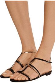 Jimmy Choo Magnes metallic leather sandals
