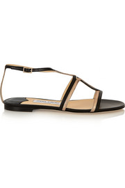 Magnes metallic leather sandals