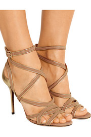 Vargo metallic leather and suede sandals