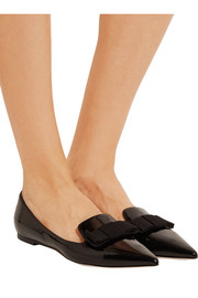 Gala patent-leather point-toe flats