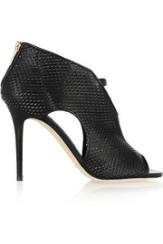 Jimmy Choo Tamali cutout leather and mesh boots