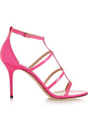 Jimmy Choo Dory neon patent-leather sandals