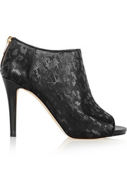 Hector laser-cut leather ankle boots