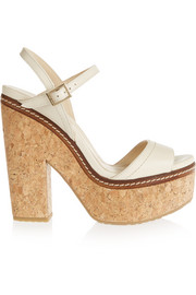 Jimmy Choo Naylor leather and cork sandals