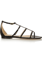 Dory patent-leather sandals