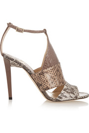 Jimmy Choo Timbus cutout elaphe sandals