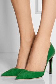Darylin suede and patent-leather pumps
