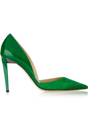 Jimmy Choo Darylin suede and patent-leather pumps
