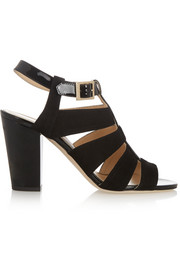 Jimmy Choo Marquee suede and patent-leather sandals