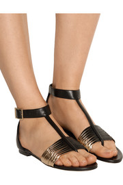 Ladle two-tone leather sandals
