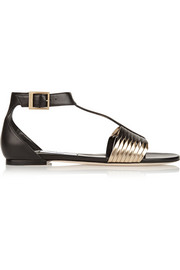 Jimmy Choo Ladle two-tone leather sandals