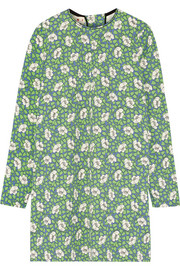 Marni Printed crepe mini dress
