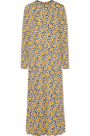 Printed crepe maxi dress