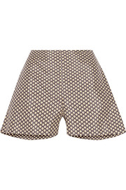 Marni Printed cotton and silk-blend shorts