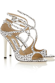 Jimmy Choo Lang printed patent-leather sandals