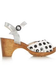 Ava Polka metallic leather sandals