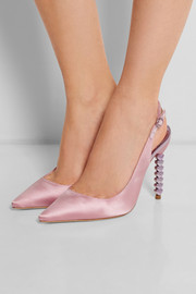 Tyra satin pumps