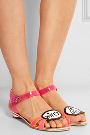 Sophia Webster Wifey For Lifey vinyl and patent-leather sandals