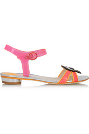 Wifey For Lifey vinyl and patent-leather sandals