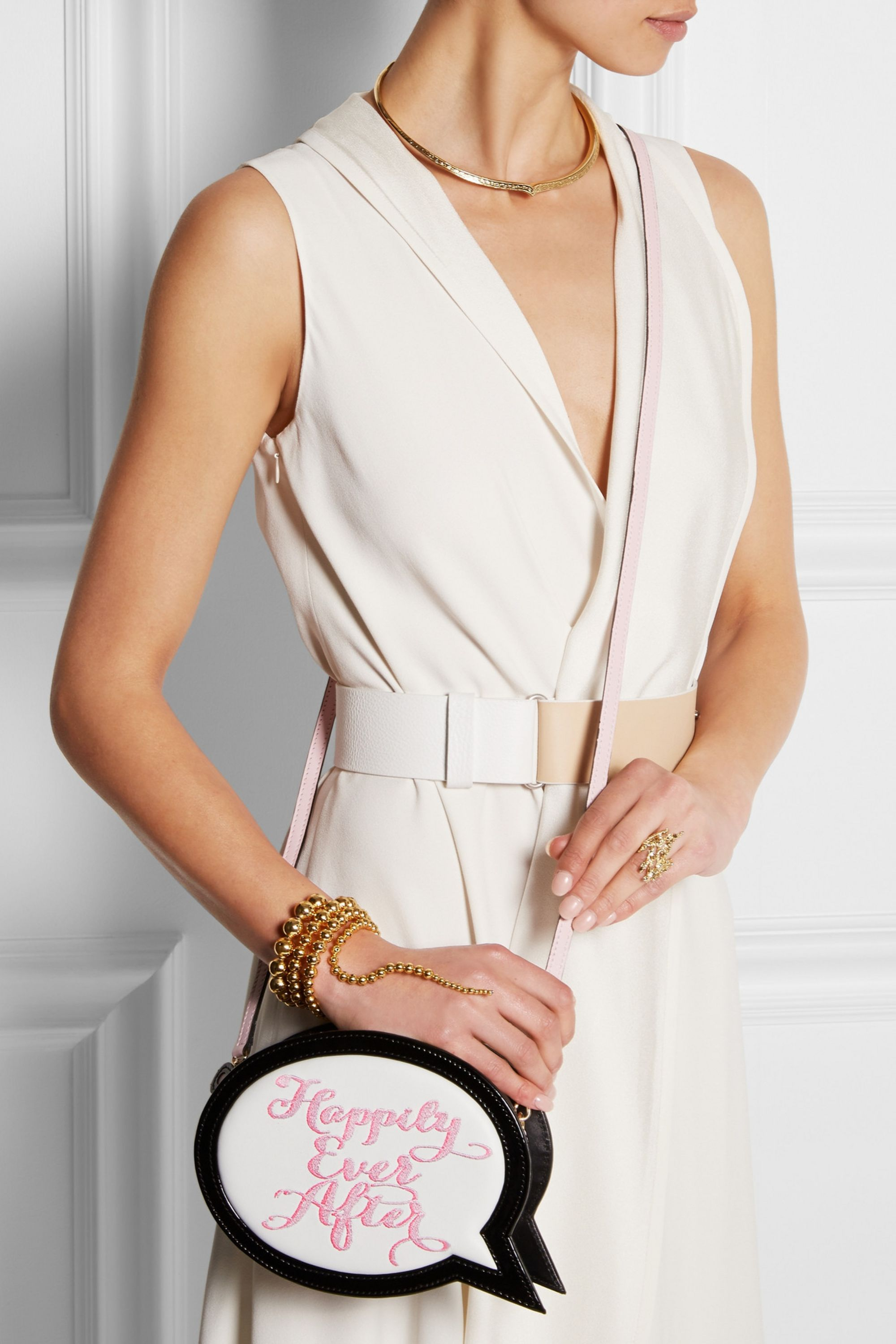 Sophia Webster Pochette en cuir brodé Happily Ever After