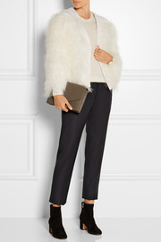 Burberry Prorsum Shearling-trimmed wool and cashmere-blend jacket
