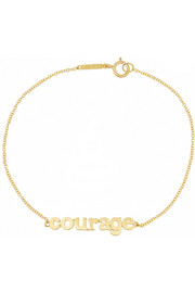 Courage 18-karat gold bracelet