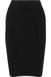 Ribbed-knit pencil skirt