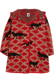 Little Red Riding Hood oversized intarsia wool cape