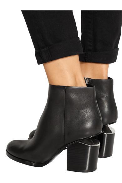 5c72319ab Alexander Wang   Gabi cutout leather ankle boots   NET-A-PORTER.COM