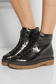 Genevieve patent-leather ankle boots