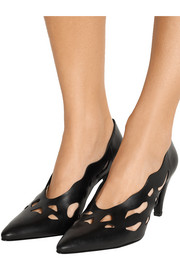 Daphne cutout leather pumps