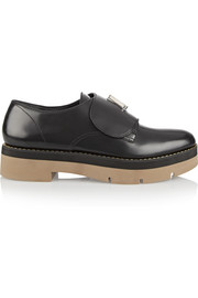 Dillion glossed-leather loafers