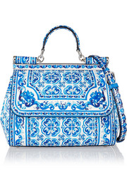 Sicily printed leather shoulder bag
