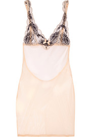 Dani Leavers lace and tulle chemise
