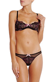 Adlina lace-embroidered tulle briefs