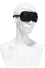 Anetta stretch-lace and satin eye mask