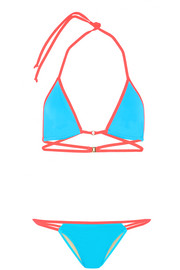 L'Agent by Agent Provocateur Cari two-tone triangle bikini