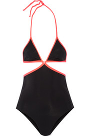 Cari two-tone cutout swimsuit