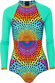Electrolight printed rash guard